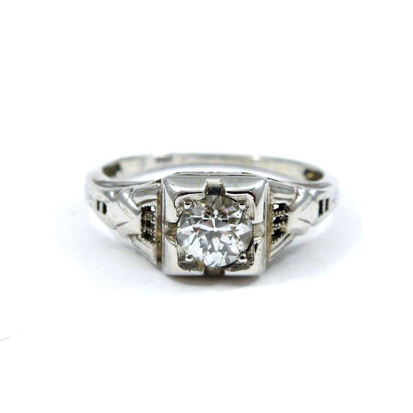 Vintage European Cut Diamond Engagement Ring Joint Venture Jewelry Cary, NC