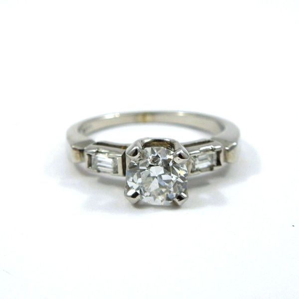 Euro Cut Vintage Diamond Engagement Ring Joint Venture Jewelry Cary, NC