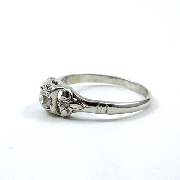 Mine Cut Diamond Engagement Ring Image 2 Joint Venture Jewelry Cary, NC