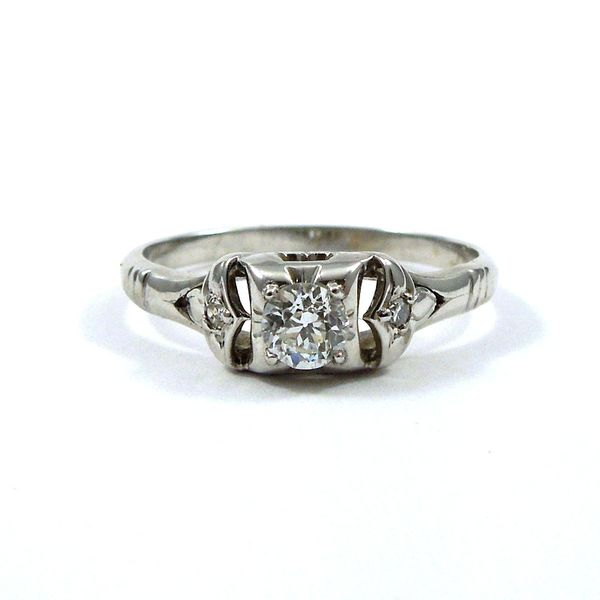 Mine Cut Diamond Engagement Ring Joint Venture Jewelry Cary, NC