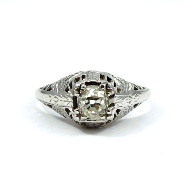 Old Mine Cut Diamond Engagement Ring Joint Venture Jewelry Cary, NC
