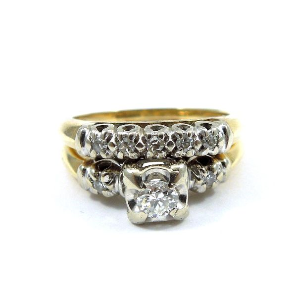 Vintage Diamond Engagement Set Joint Venture Jewelry Cary, NC