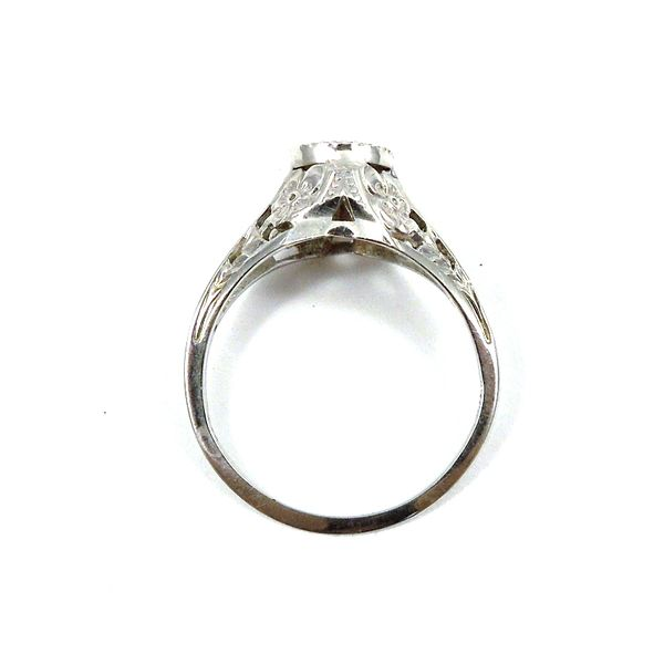 Mine Cut Vintage Diamond Engagement Ring Image 3 Joint Venture Jewelry Cary, NC