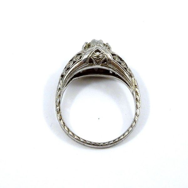 Vintage Diamond Engagement Ring. Image 3 Joint Venture Jewelry Cary, NC
