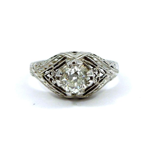 Vintage Diamond Engagement Ring. Joint Venture Jewelry Cary, NC