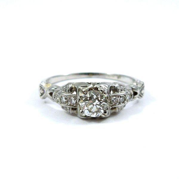 Euro Cut Diamond Engagement Ring Joint Venture Jewelry Cary, NC