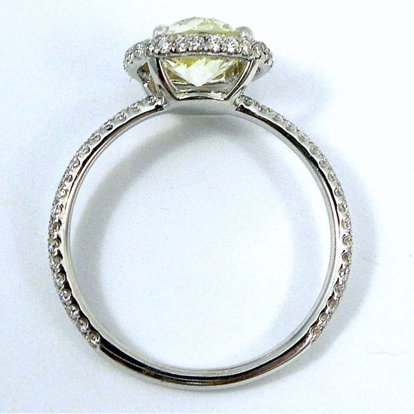 Fancy Yellow Diamond Halo Engagement Ring Image 2 Joint Venture Jewelry Cary, NC