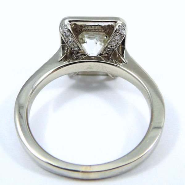 Mine Cut Diamond Engagement Ring in Modern Setting Image 2 Joint Venture Jewelry Cary, NC