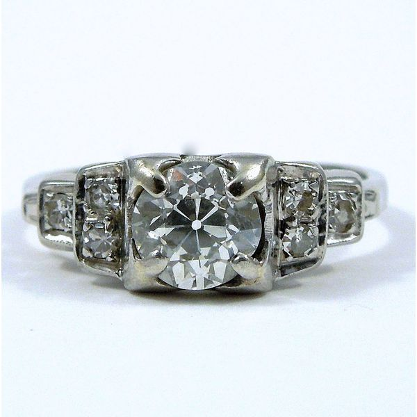 Vintage Diamond Engagement Ring Joint Venture Jewelry Cary, NC