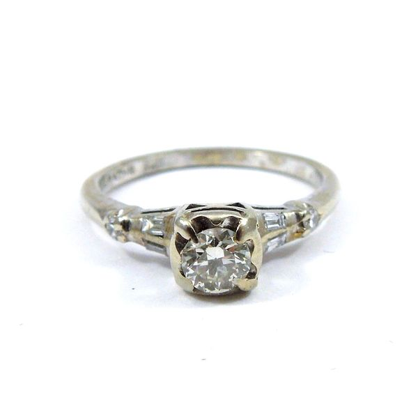 Vintage Euro Cut Diamond Engagement Ring Joint Venture Jewelry Cary, NC