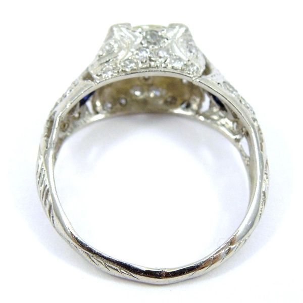 Vintage Euro Cut Diamond Engagement Ring Image 3 Joint Venture Jewelry Cary, NC