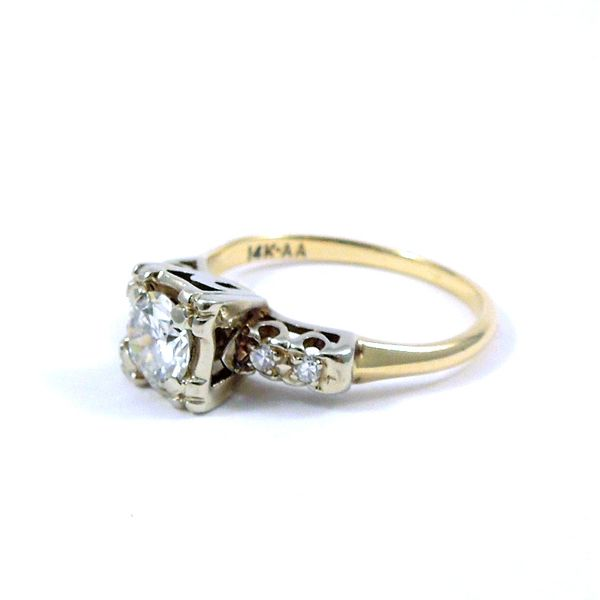 Vintage Diamond Engagement Ring Image 2 Joint Venture Jewelry Cary, NC