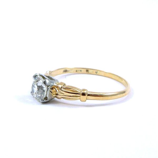 Vintage Euro Cut Diamond Engagement Ring Image 2 Joint Venture Jewelry Cary, NC