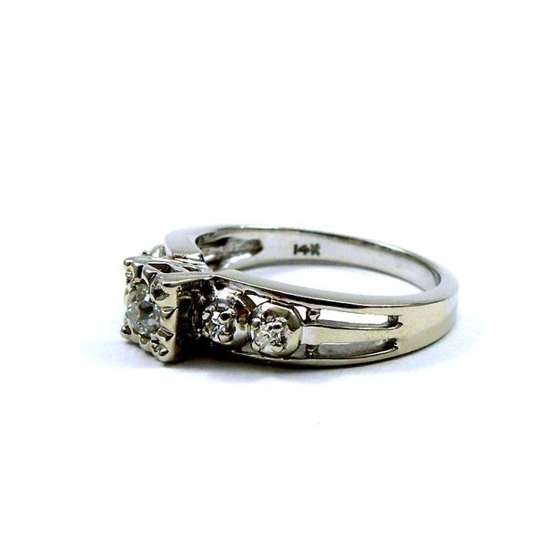 Vintage Mine Cut Engagement Ring Image 2 Joint Venture Jewelry Cary, NC