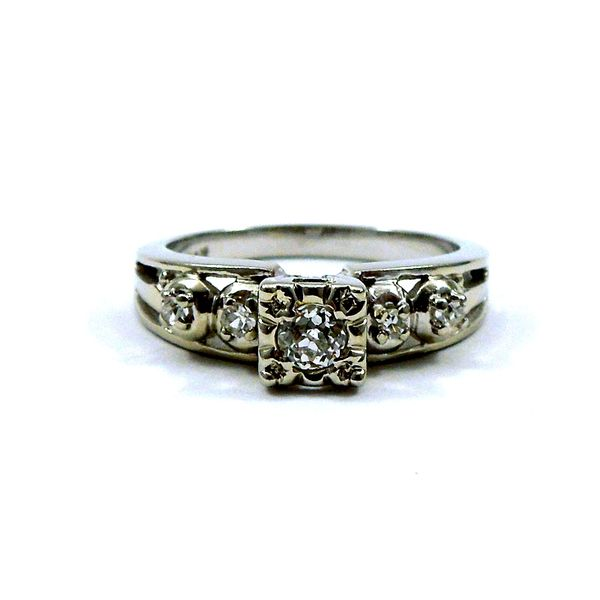Vintage Mine Cut Engagement Ring Joint Venture Jewelry Cary, NC