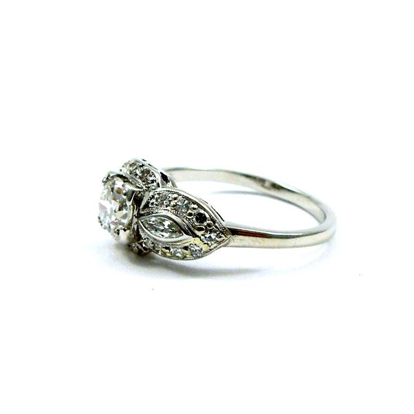 Vintage Old Euro Cut Diamond Engagement Ring Image 2 Joint Venture Jewelry Cary, NC
