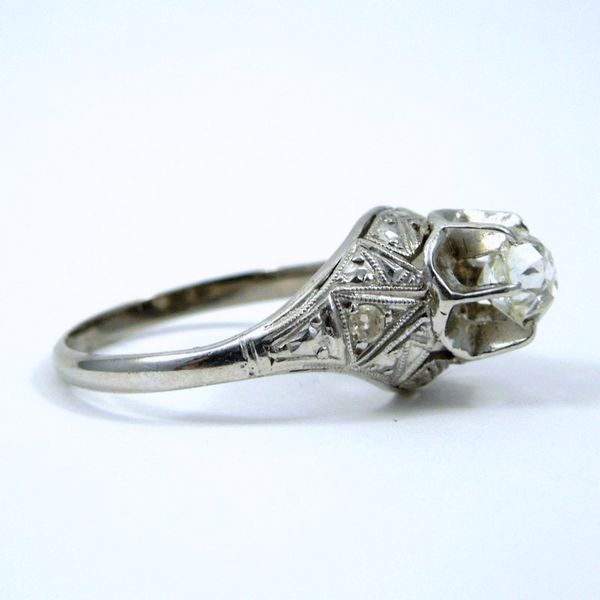 Vintage Mine Cut Diamond Engagement Ring Image 2 Joint Venture Jewelry Cary, NC