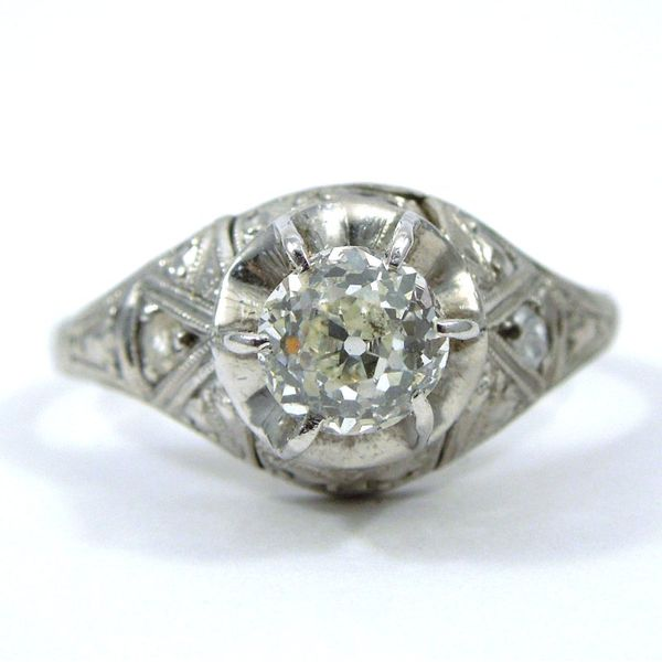 Vintage Mine Cut Diamond Engagement Ring Joint Venture Jewelry Cary, NC