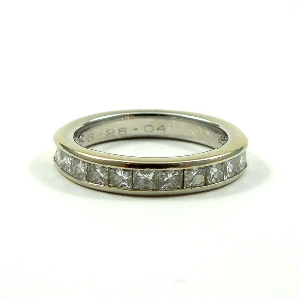 Princess Cut Diamond Wedding Band Joint Venture Jewelry Cary, NC