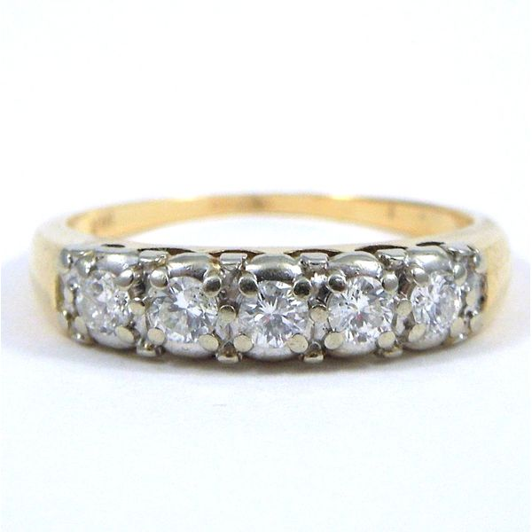 Two Tone Vintage Diamond Wedding Band Joint Venture Jewelry Cary, NC