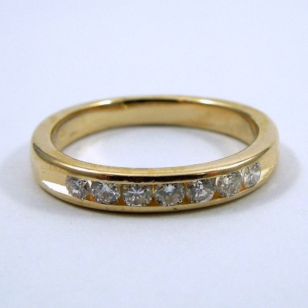 Yellow Gold Diamond Wedding Band Joint Venture Jewelry Cary, NC