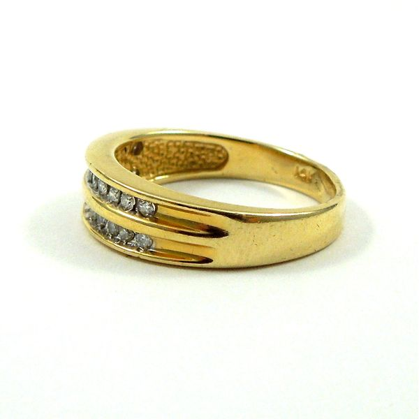 Double Diamond Wedding Band Image 2 Joint Venture Jewelry Cary, NC