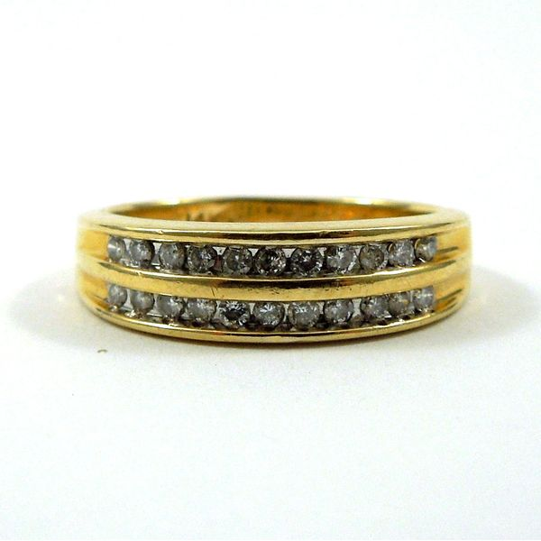Double Diamond Wedding Band Joint Venture Jewelry Cary, NC