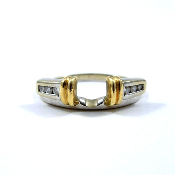 Two Tone Diamond Wrap Wedding Band Joint Venture Jewelry Cary, NC