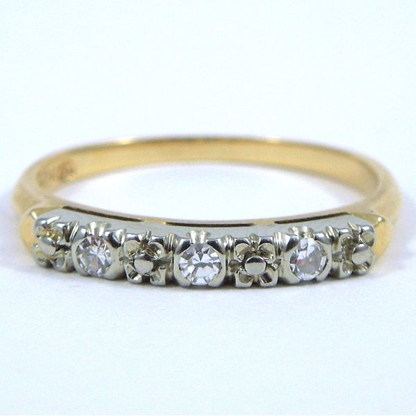 Two Tone Diamond Wedding Band Joint Venture Jewelry Cary, NC