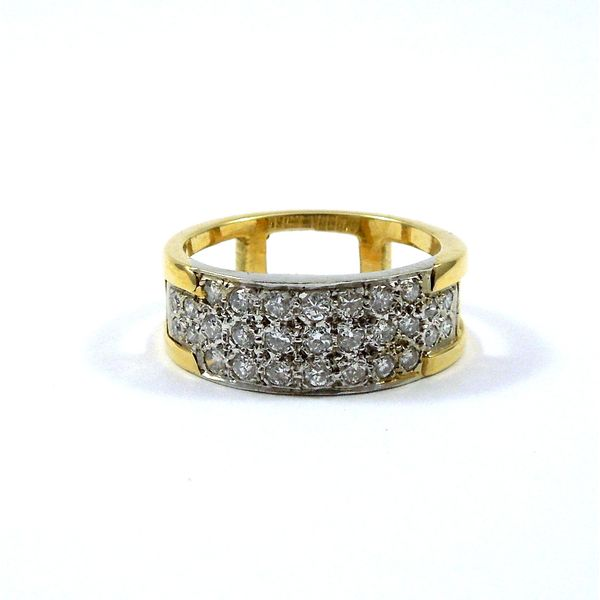 Two Tone Diamond Cluster Band Joint Venture Jewelry Cary, NC