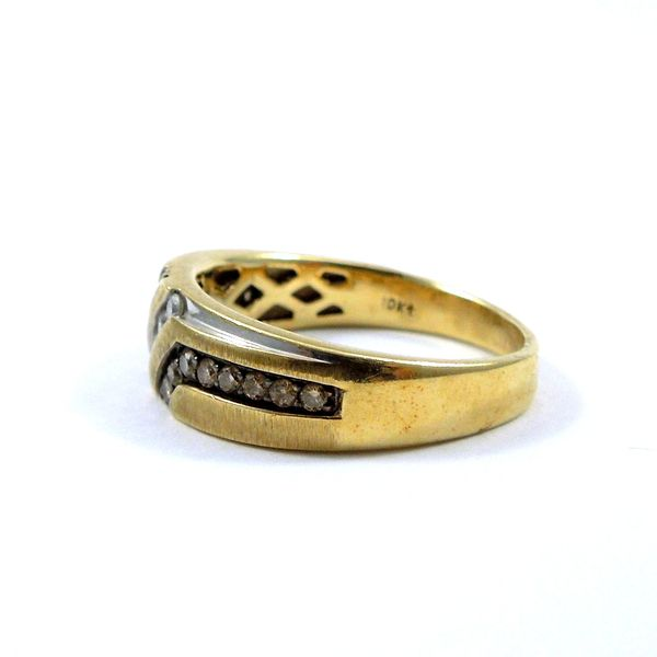 Gents Diamond Wedding Band Image 2 Joint Venture Jewelry Cary, NC