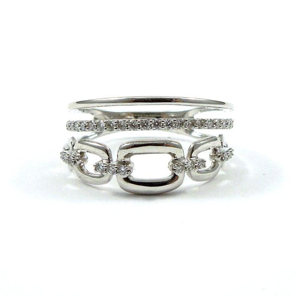 Multi-Row Diamond Wedding Band Image 2 Joint Venture Jewelry Cary, NC