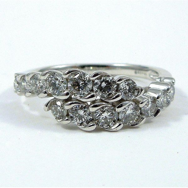 Diamond Bypass Wedding Band Joint Venture Jewelry Cary, NC