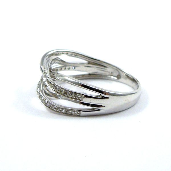 Twisted Diamond Wedding Band Image 2 Joint Venture Jewelry Cary, NC