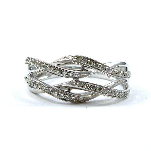 Twisted Diamond Wedding Band Joint Venture Jewelry Cary, NC