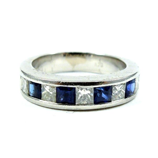 Sapphire and Diamond Wedding Band Joint Venture Jewelry Cary, NC
