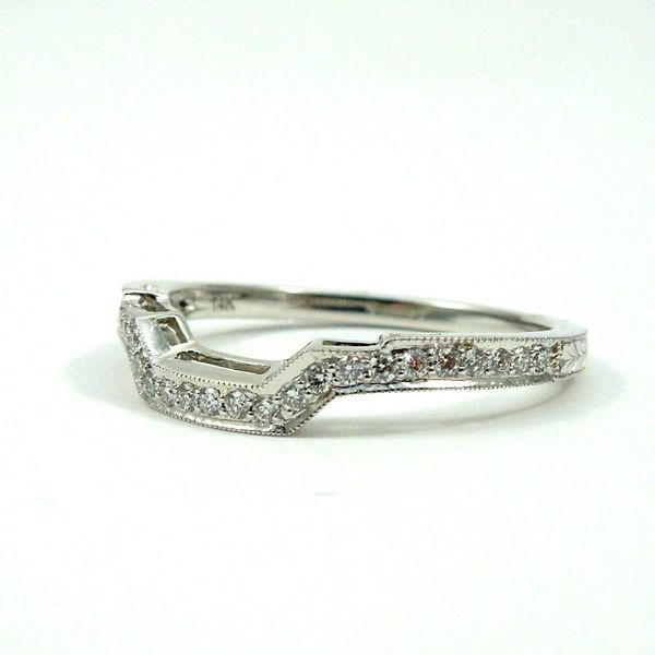 Curved Diamond Wedding Band Image 2 Joint Venture Jewelry Cary, NC
