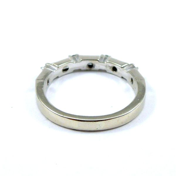 Baguette and Round Diamond Wedding Band Image 3 Joint Venture Jewelry Cary, NC