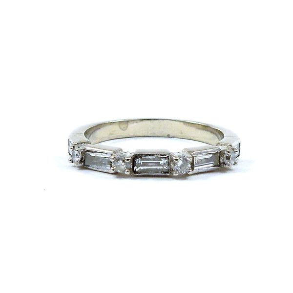 Baguette and Round Diamond Wedding Band Joint Venture Jewelry Cary, NC