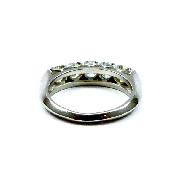 Five Stone Diamond Wedding Band Image 3 Joint Venture Jewelry Cary, NC