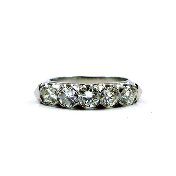 Five Stone Diamond Wedding Band Joint Venture Jewelry Cary, NC