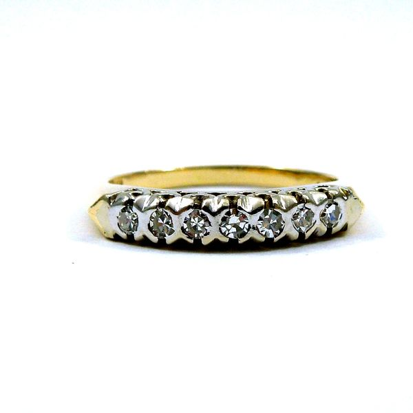 Seven Stone Diamond Wedding Band Joint Venture Jewelry Cary, NC