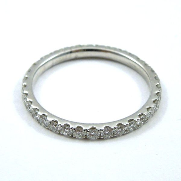 Platinum Diamond Eternity Wedding Band Image 2 Joint Venture Jewelry Cary, NC