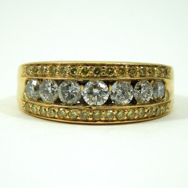 Yellow Diamond Wedding Band Joint Venture Jewelry Cary, NC