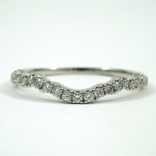 Curved Diamond Wedding Band Joint Venture Jewelry Cary, NC