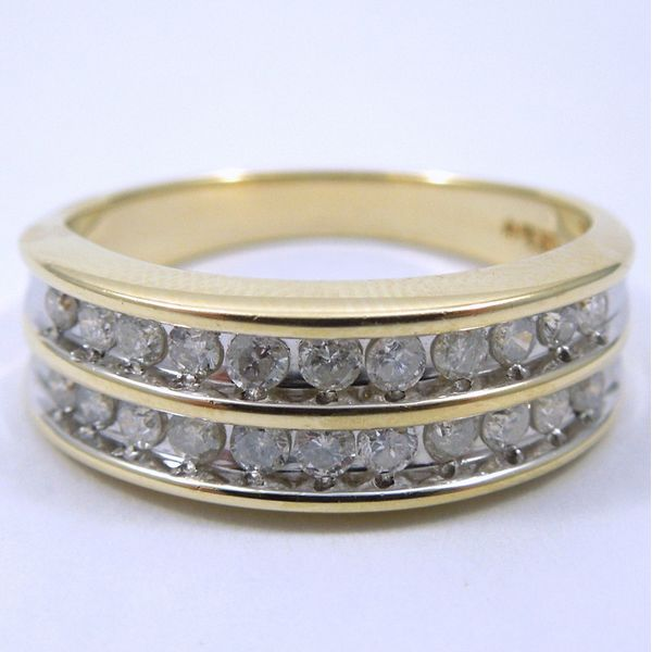 Yellow Gold Diamond Band Joint Venture Jewelry Cary, NC