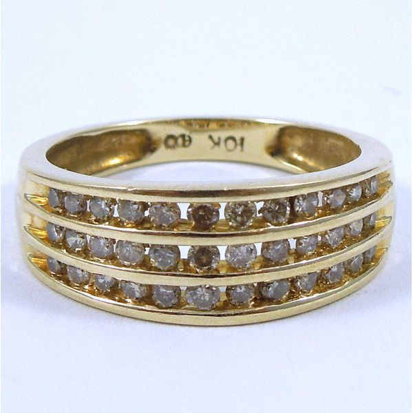 Three Rows of Diamonds Wedding Band Joint Venture Jewelry Cary, NC