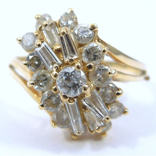 Diamond Cluster Fashion Ring Joint Venture Jewelry Cary, NC