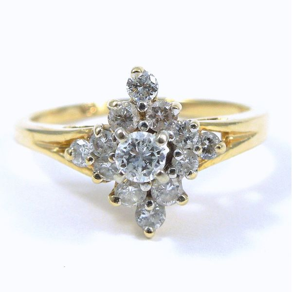 Diamond Cluster Ring Joint Venture Jewelry Cary, NC