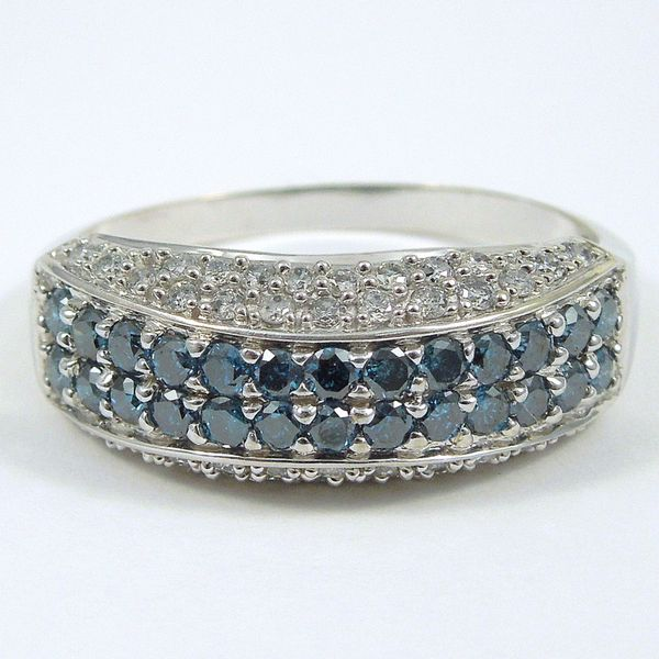 Colorless & Blue Diamond Band Joint Venture Jewelry Cary, NC